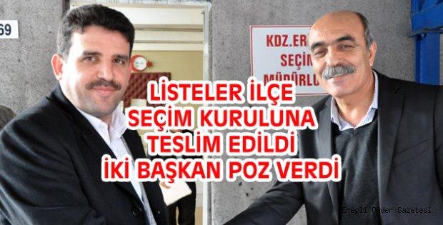 LİSTELER VERİLDİ