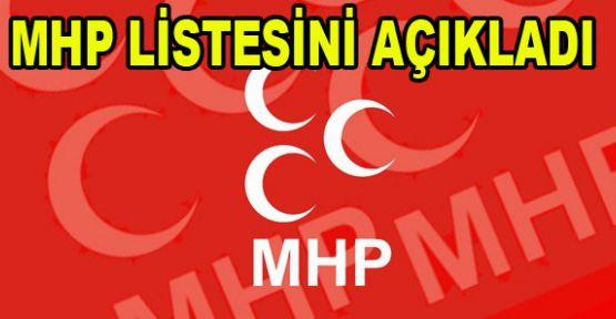 MHP LİSTESİNİ AÇIKLADI