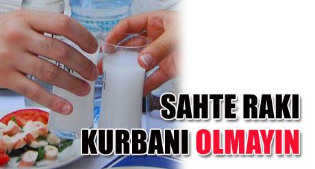 EREĞLİ'DE SAHTE RAKI ALARMI !