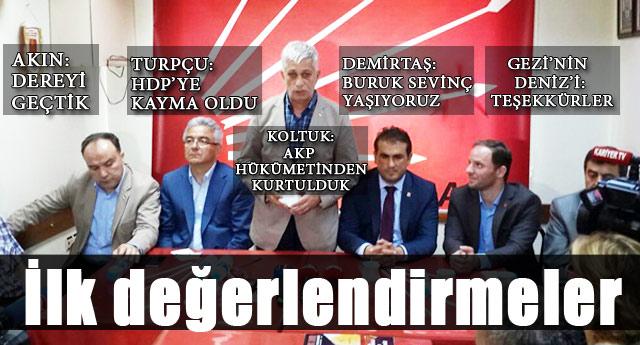 CHP DURUM DEĞERLENDİRMESİ YAPTI..!