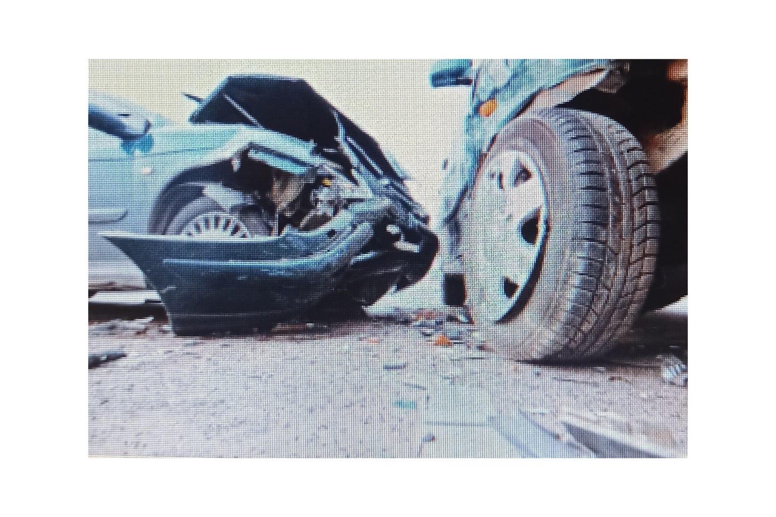 Kazada 1 kişi yaralandı.